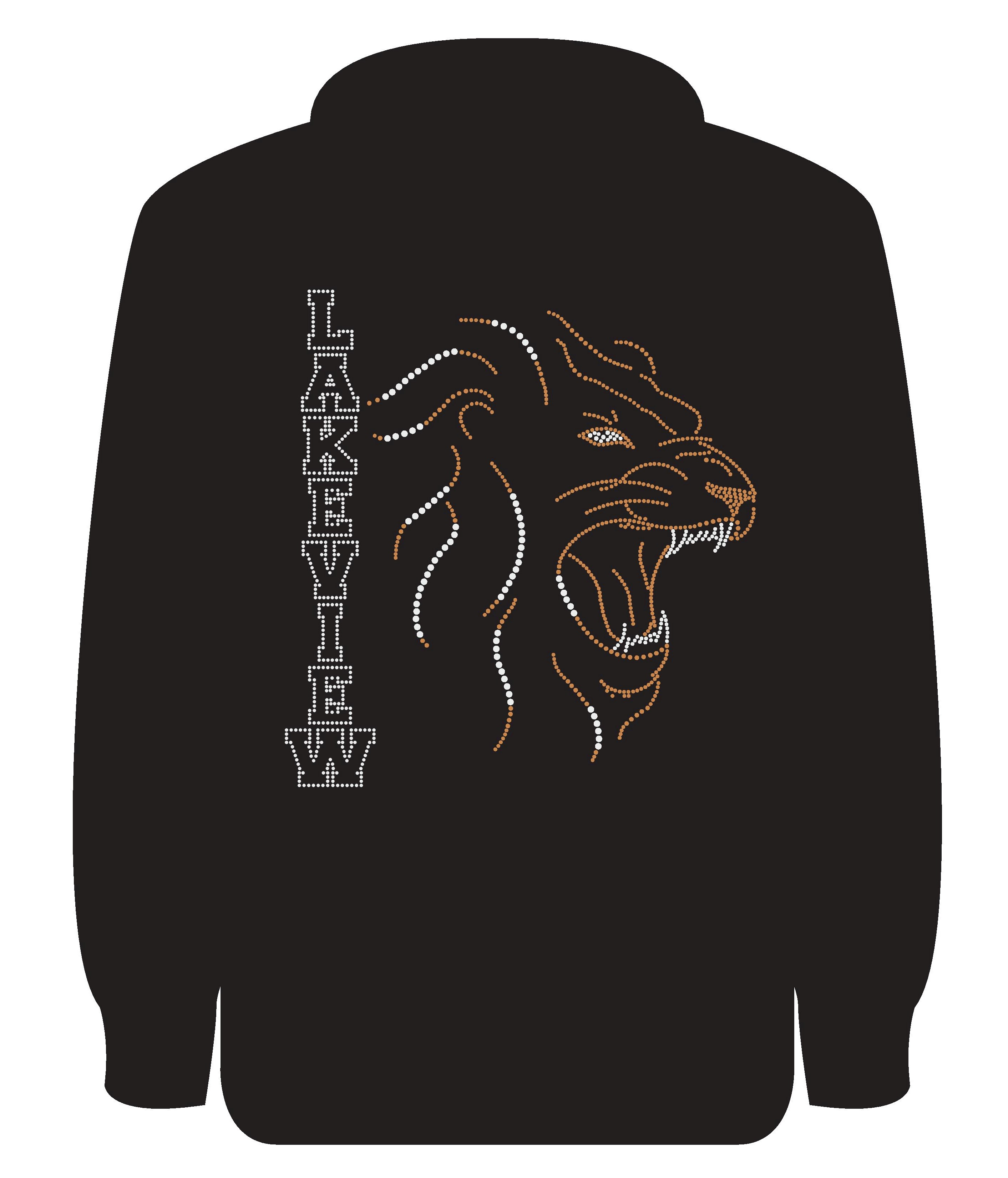 c5828fc261754 Roaring Lion Adult Zip-Up Hoodie In All Bling - The Bling Lab OC